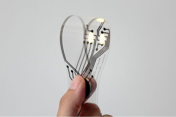 Bookmark light using AgIC Circuit Print Ink and Circuit PET Film